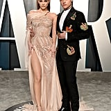 Barbara Palvin and Dylan Sprouse at the Vanity Fair Oscars Afterparty 2020