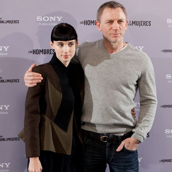 Daniel Craig and Rooney Mara Madrid Dragon Tattoo Pictures