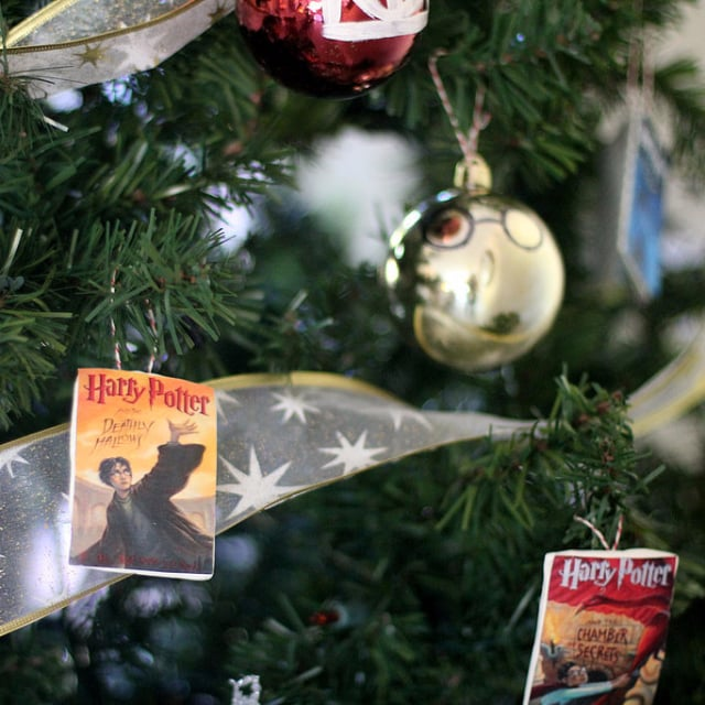 harry potter book cover ornaments popsugar smart living