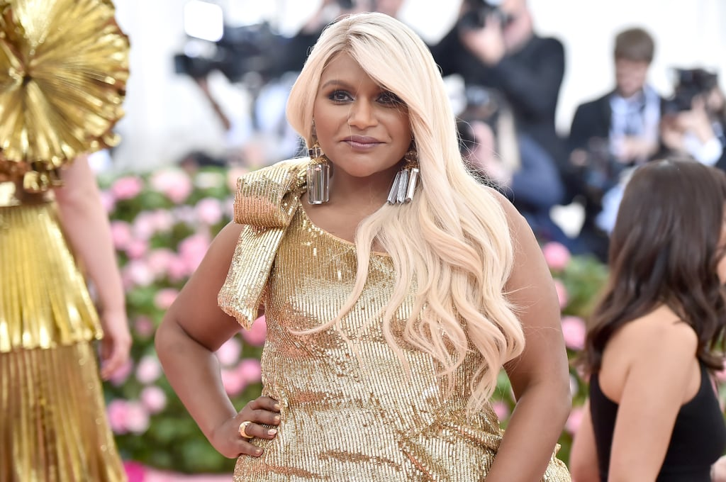 Mindy Kaling S Met Gala 2019 Rose Gold Hair Popsugar Beauty