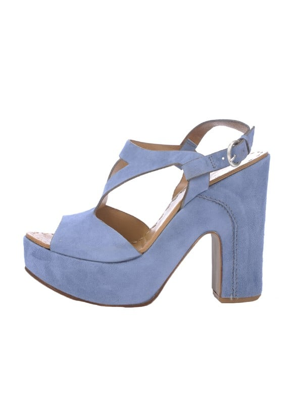 Check out these soft, almost periwinkle-hued sandals — wouldn't they look great with a floral dress?  Camuto Signature Exclusive Suede T-Strap Sandal ($240)