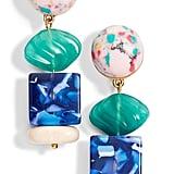Lele Sadoughi Mini Stacked Stone Earrings