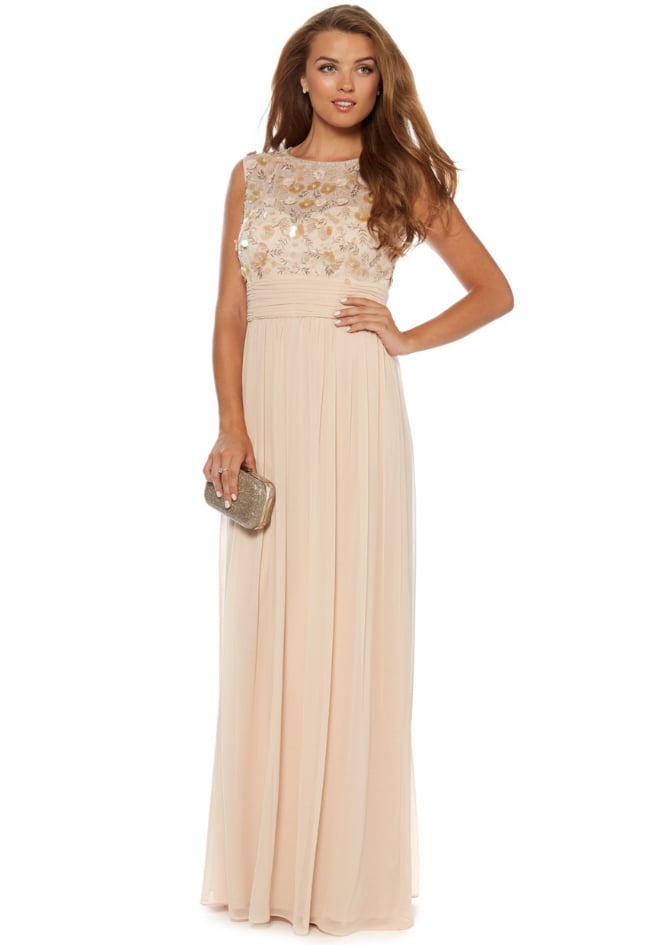 No. 1 Jenny Packham Champagne Flower Embellished Occasion Gown (£170 ...