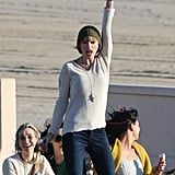 Taylor Swift Films Music Video on the Beach | Pictures