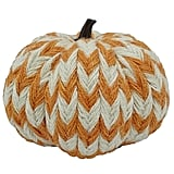 Harvest Burlap Covered Pumpkin