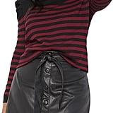 ELOQUII Button Collar Turtleneck Sweater