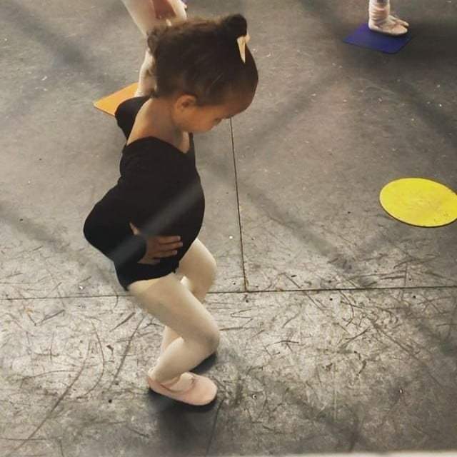 0203f1de7 Chrissy Teigen s Video of Luna s First Dance Class