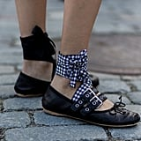 But, If You Find Your Feet Constantly Slipping Out . . . Wear Tie-Up Styles With Your Tights