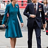 Kate Middleton Teal Coat Anzac Day April 2019