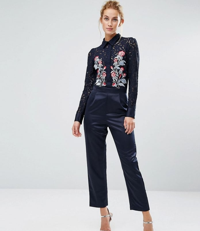 Hope And Ivy Occasion Jumpsuit With Embroidery (£130)