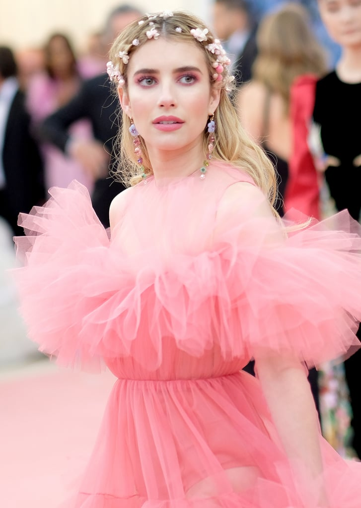 Emma Roberts Taking Influence From Chanel At The Met Gala Emma Roberts Pink Dress Met Gala 2019 Popsugar Fashion Australia Photo 14