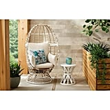 Hampton Bay Brown Wicker Outdoor Patio Egg Lounge Chair