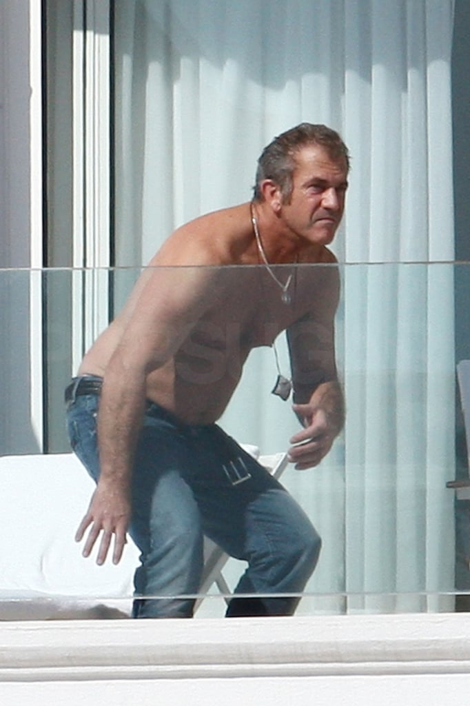Mel Gibson Shirtless Pictures In Cannes  Popsugar Celebrity Photo 14-4035