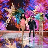 Pictured: Adriana Lima and The Weeknd