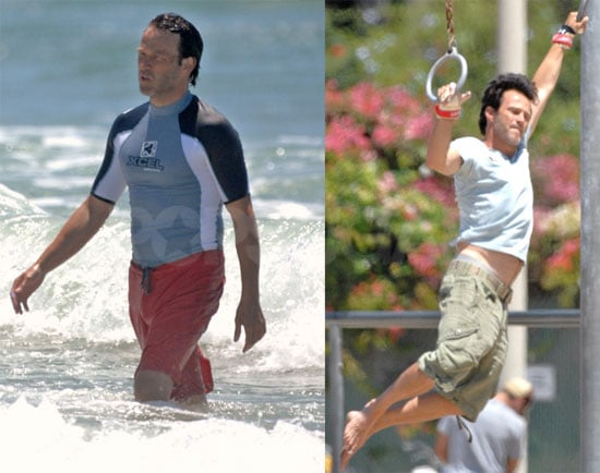 Photos of Stephen Moyer at the Beach