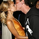 She and DJ AM (who was then her fiancé) packed on the PDA during his surprise birthday party in Las Vegas in April 2006.