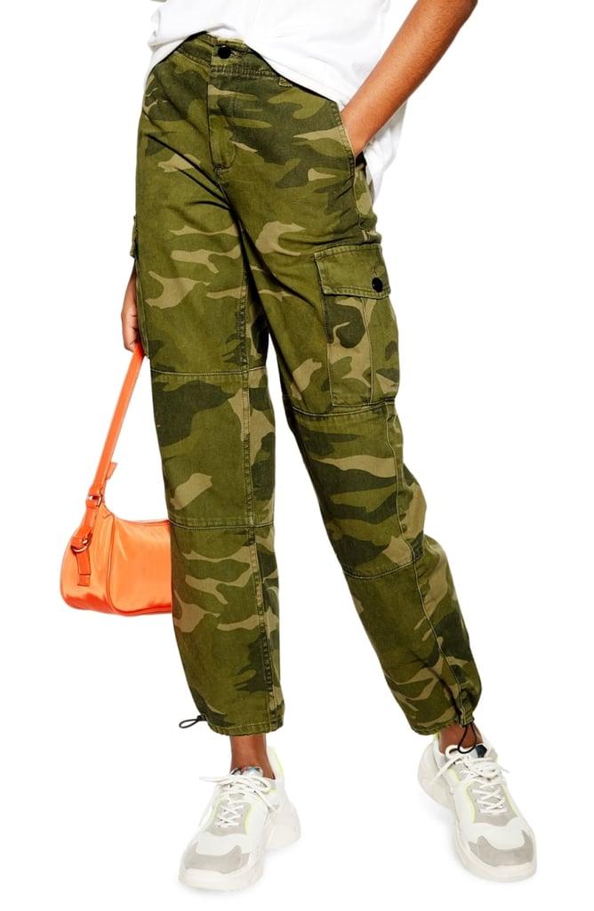 Topshop Camo Print Cargo Pants (Petite)