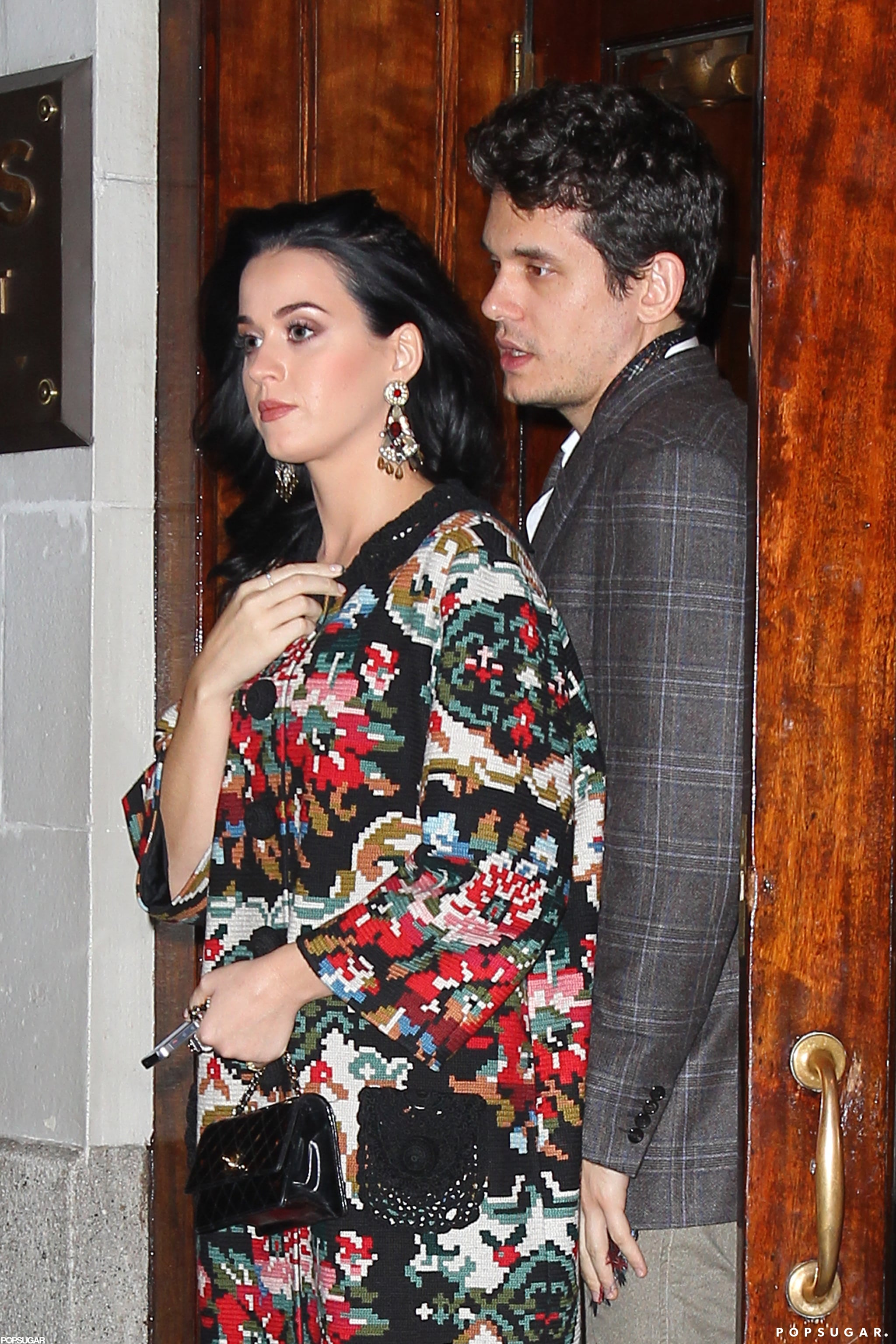 Katy Perry and John Mayer enjoyed dinner with his father.