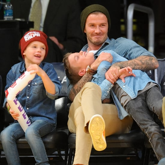 David Beckham at the Lakers Game With His Sons | Pictures