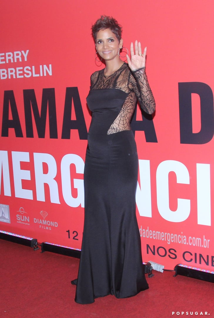 Celebrity amp entertainment halle berry bares her bump in a revealing