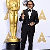 Posing With His Oscar