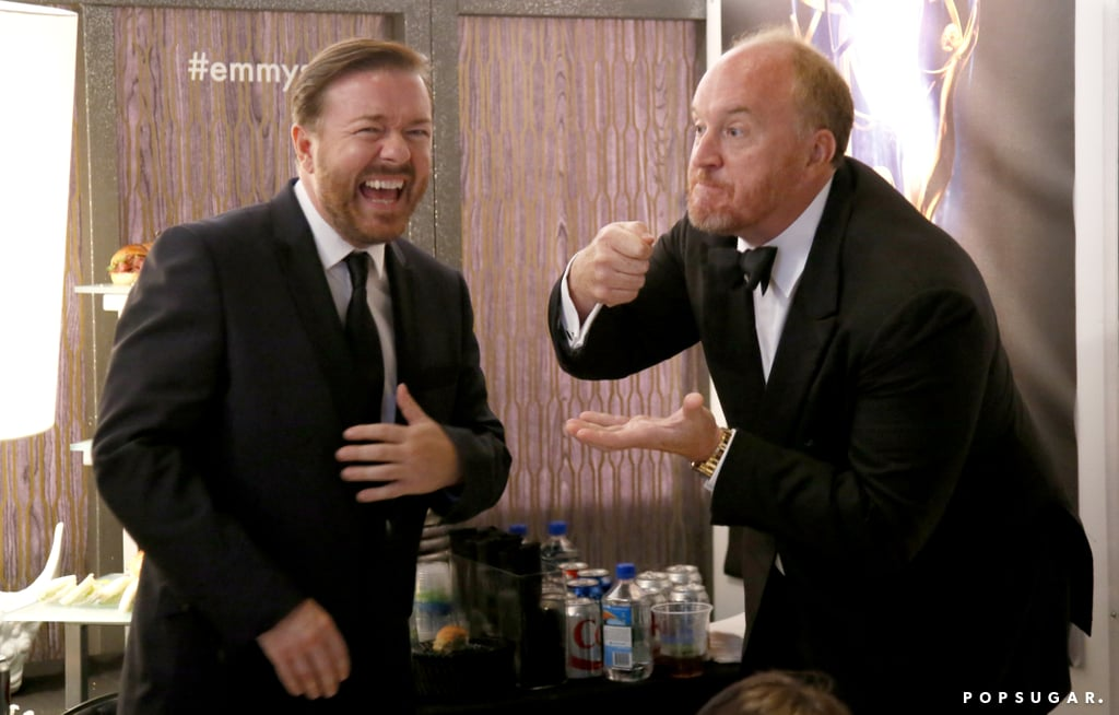 Ricky Gervais and Louis C.K. joked around. Obviously.