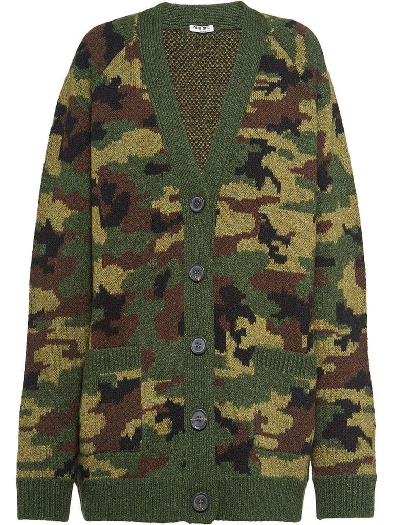 Rihanna's Miu Miu Camouflage Cardigan
