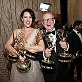 Phoebe Waller-Bridge and Harry Bradbeer at the 2019 Emmys
