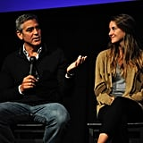 George Clooney with Shailene Woodley.