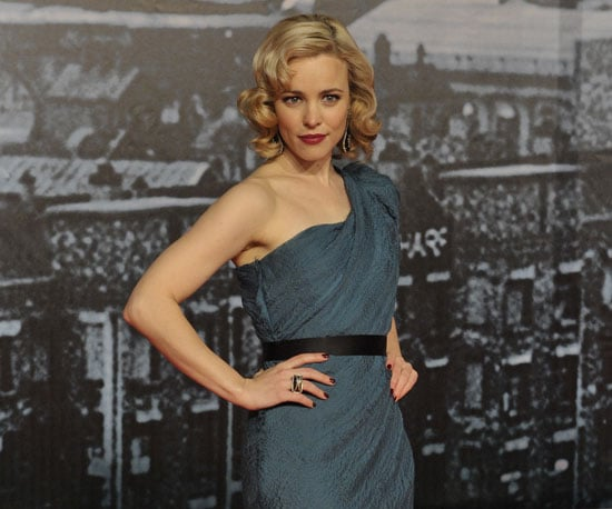 Slide Photo of Rachel McAdams on Red Carpet For Sherlock Holmes