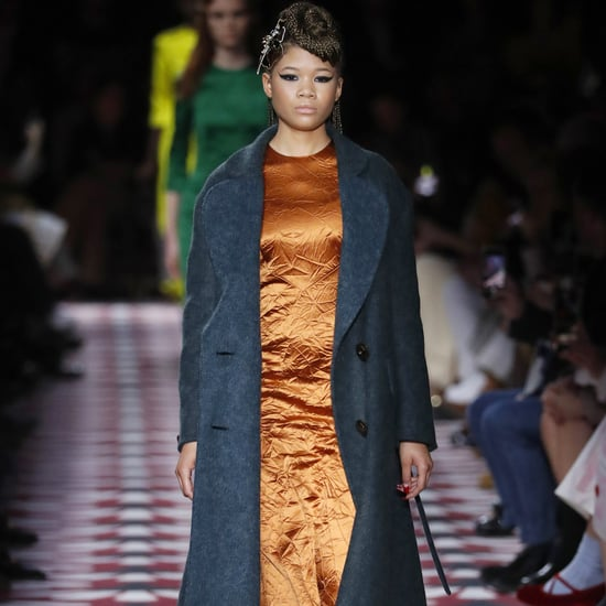 Storm Reid Opening the Miu Miu Show at Paris Fashion Week