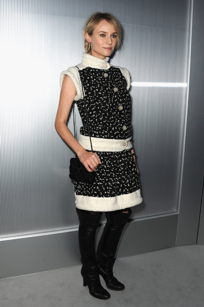 Diane Kruger attended a fashion presentation for Chanel in Paris.
