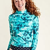 Old Navy Mock-Neck Rashguard Long-Sleeve Swim Top