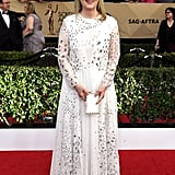 Meryl wore a Valentino dress and Fred Leighton jewels to the 2017 SAG Awards.