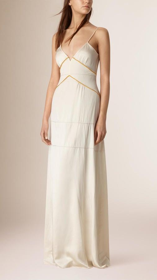 Burberry Long Empire Line Silk Dress ($2,595)