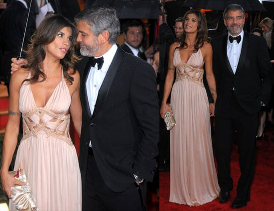 George Clooney And Elisabetta Canalis on the Red Carpet at The 2010 Golden Globes