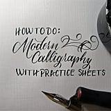 How to Learn Modern Calligraphy Tutorial (For Beginners)