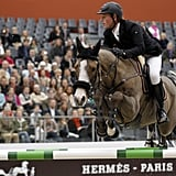 Zangersheide Antello Z competes in the Talents Hermès, another show jumping competition at Saut Hermés.