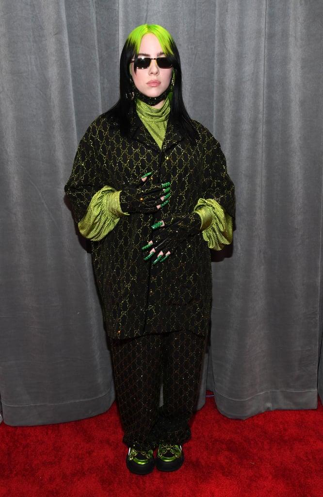 Billie Eilish Gucci Nail Art at the Grammys 2020