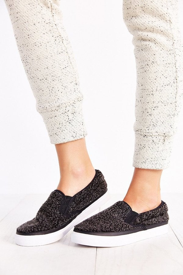 Jeffrey Campbell Ray Shearling Slip-On Sneaker