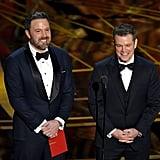 Ben Affleck and Matt Damon at the 2017 Oscars