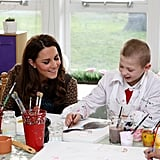 Kate Middleton watched an art lesson.