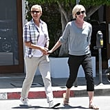 In June 2012, Portia led the way for a smiley Ellen in LA.