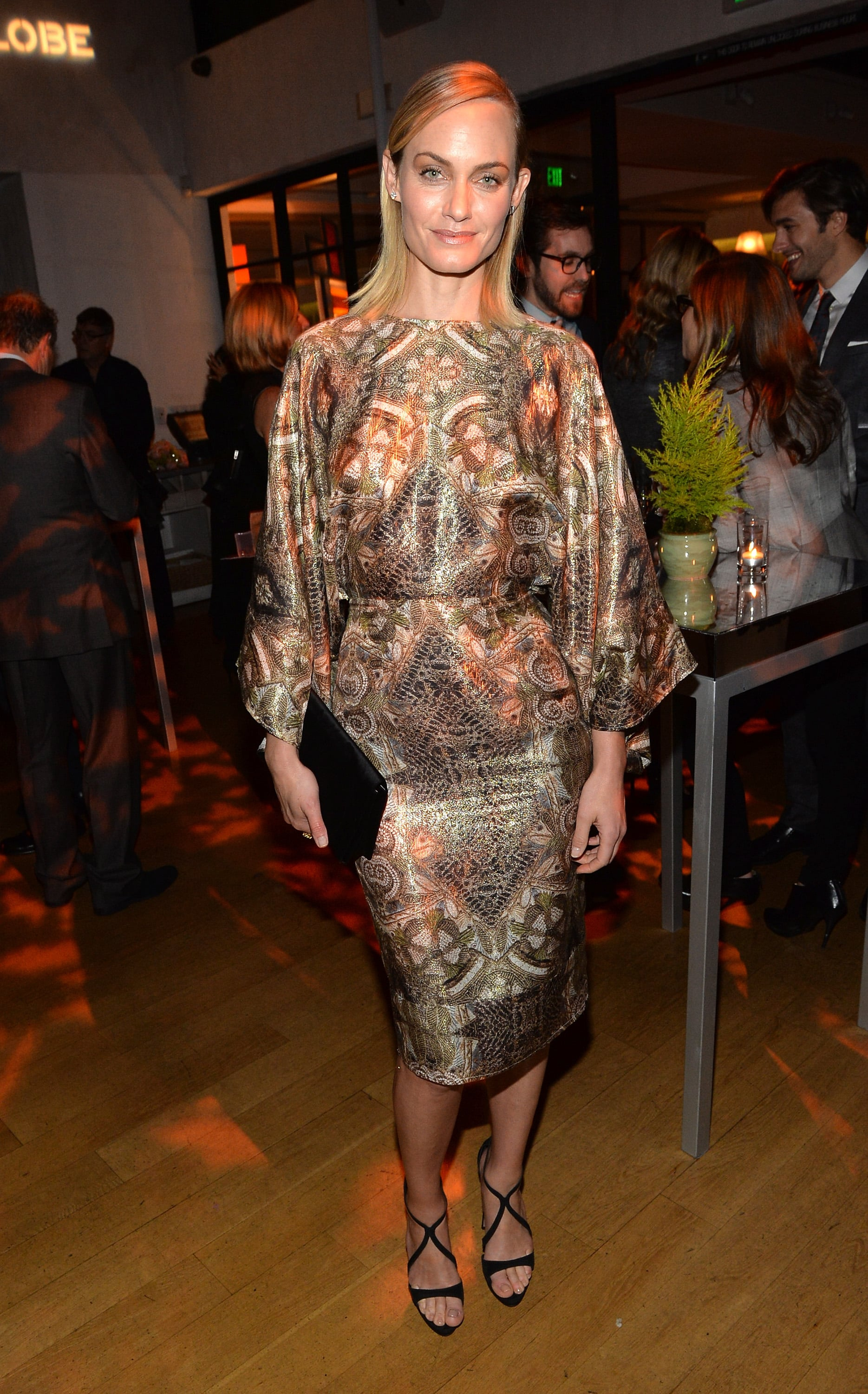 Amber Valletta at the Hollywood Foreign Press Association and InStyle's Golden Globes party.