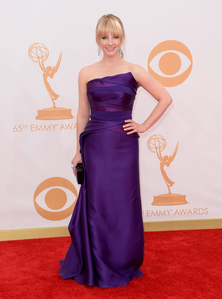 Melissa Rauch attended the Emmys.