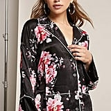 Forever 21 Honey Punch Satin Floral Pajama Top