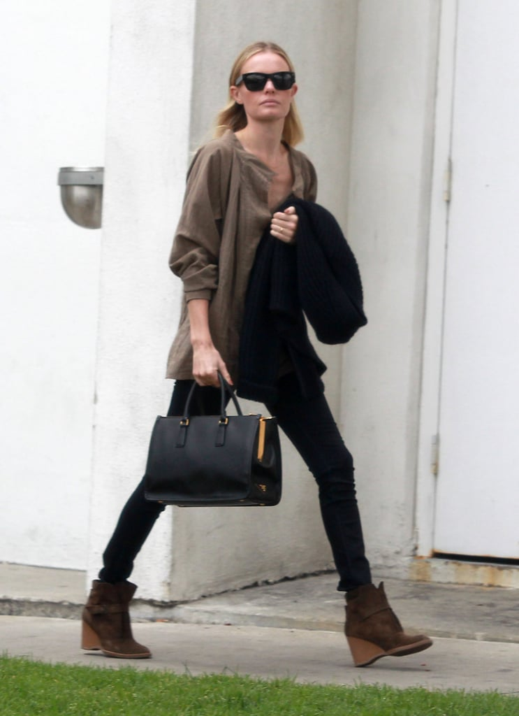Kate Bosworth walked tall and proud in LA.