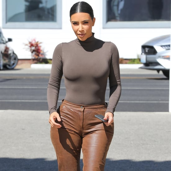 Kim Kardashian's Leather Pants Have the Perfect Vintage Look