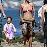 Halle Berry Hits the Beach in a Bikini on Her 45th Birthday!
