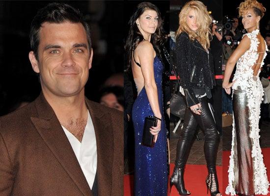 Photos of Robbie Williams, Rihanna, Ke$ha, Pharrell Williams, Fergie, Black Eyed Peas on the Red Carpet at NRJ Music Awards 2010